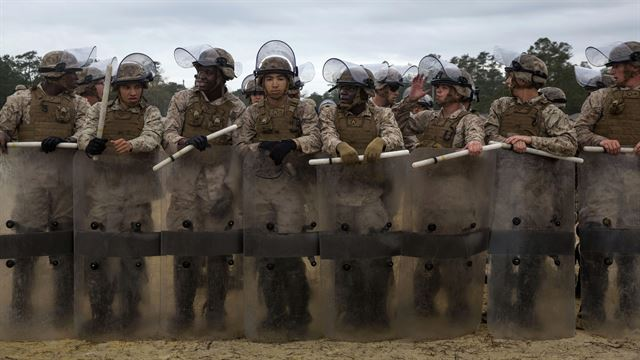 Marines are preparing for riot and crowd control on for American soil