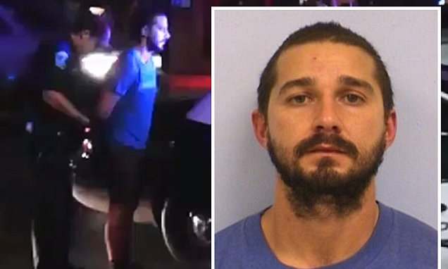 Shia LaBeouf Arrested ... Booked for Public Intoxication