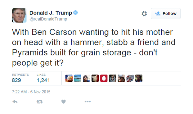 Donald Trump Drunk-Tweets Insults At Ben Carson | RedState |