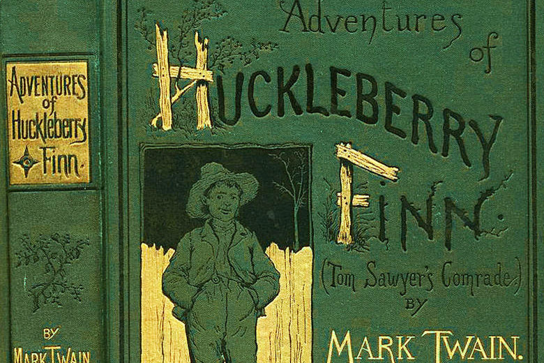 a conflict between society an the individual in the adventures of huckleberry finn a novel by mark t