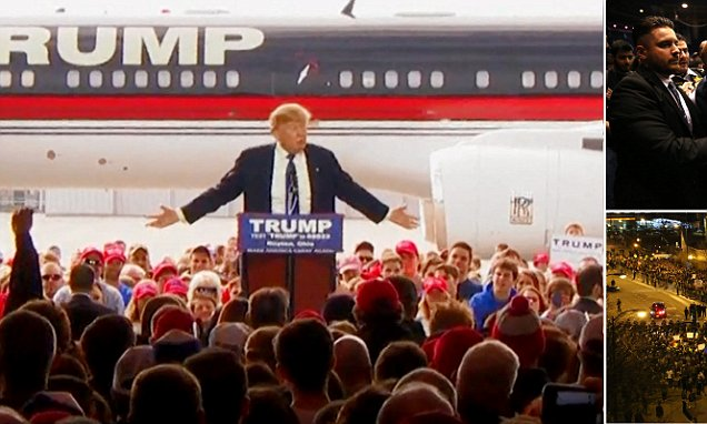 Crowd member tries to rush the stage in ohio trump rally crowd member tries to rush the stage in ohio trump rally publicscrutiny Image collections