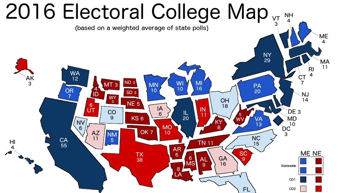 The official US Electoral College web site providing current information about the presidential election information about the roles and