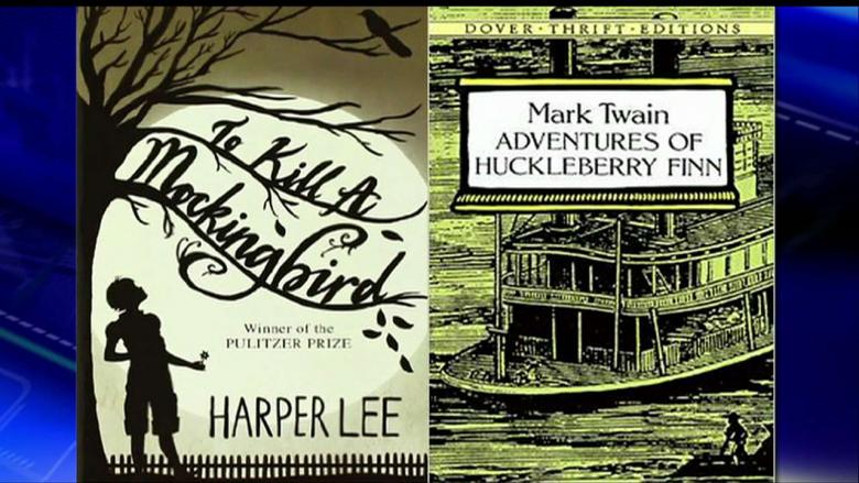 a comparison of the adventures of huckleberry finn by mark twain and to kill a mockingbird by harper